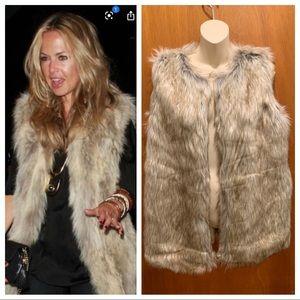 Rachel Zoe Faux Fur Vest Size Small NWT